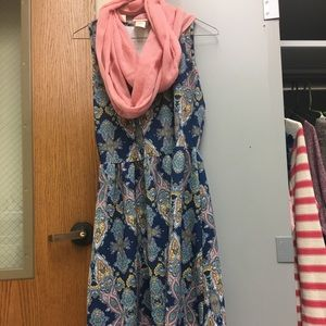 Paisley Minidress with scarf